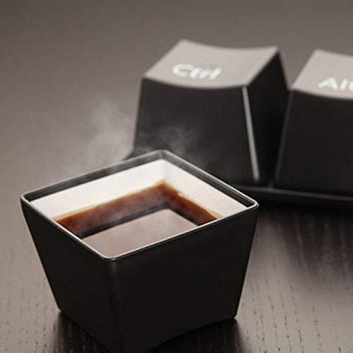 Kreative Tasse Tee-Set Tastatur Mode Tassen schwarz Farbe ctrl del alt 3 Stück/Tassen Werbegeschenke Messen Hochzeitschwarz