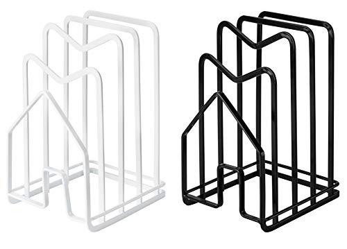 Aeman Set of 2 Chopping Board Holder Rack Kitchen Pot Lid Organizer for Plates Bakeware Trays - Ideal Kitchen Storage Solution