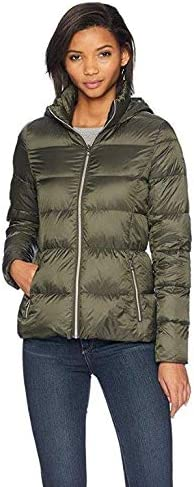 Lucky Brand Women's Short Lightweight Packable Down Coat with Boxed Quilt
