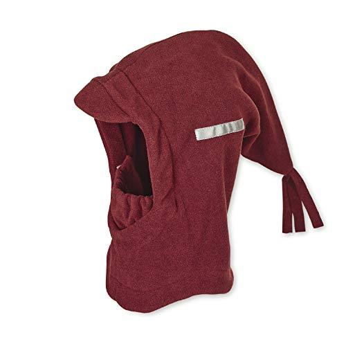 Sterntaler Schalmütze mit Zipfel und elastischem integriertem Schal, Alter: 12-18 Monate, Größe: 49, Dunkelrot