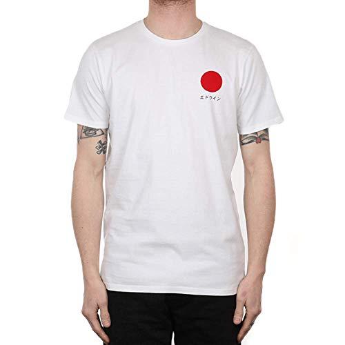 Edwin Herren Japanese Sun TS T-Shirt, Weiß (Weiß 267), L