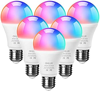 6-Pack Ohlux Smart Light Bulbs Work with Alexa and Google Home