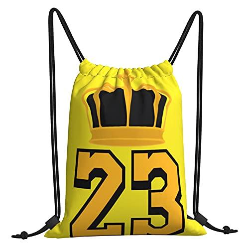 Michael 23 Jor-Dan Bolsa de gimnasio con cordón Bolsas de viaje Bolsa de playa Bolsa de deporte Ejercicio al aire libre Running Natación Mochila Unisex 30,4 cm x 40,6 cm