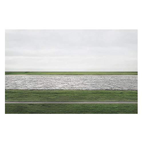 xuxiaojie Andreas Gursky Fotografie Rhein Ii Plakat Kunstdruck Gemälde Fotopapier Wandkunst Bild Gemälde Druck auf Leinwand-50x70cm Kein Rahmen