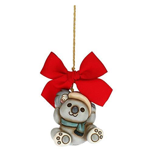 THUN - Addobbo per Albero di Natale Koala - Decorazioni Natale Casa - Formato Grande - Ceramica - 5,2 x 5,2 x 6,5 h cm