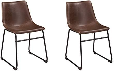 Best Ashley Furniture Signature Design - Centiar Dining Chairs - Set of 2 - Mid Century Modern Style - Bl