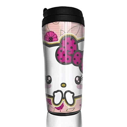 Schöne Hello Kitty Kaffeebecher Travel Mug Thermobecher Isolierbecher Doppelwandig Isolierung Kaffeetasse