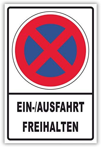 SCHILDER HIMMEL anpassbares Ausfahrt Einfahrt freihalten Schild 29x21cm Kunststoff, Nr 152 eigener Text/Bild verschiedene Größen/Materialien