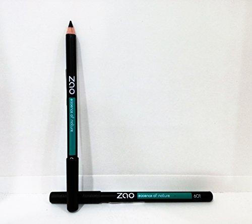 ZAO Holzstift 601 schwarz Kajal Eyeliner Augenbrauenstift (bio, Ecocert, Cosmebio, Naturkosmetik)