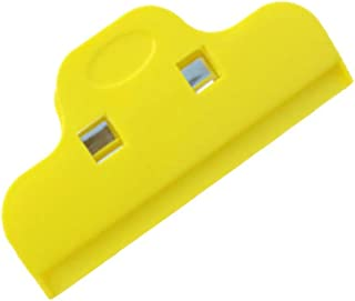 Romica0 Chip Clips for Bags, Plastic Bag Clip, Snacks Sealing Clip Seal Grip for Kitchen Home Office Yellow