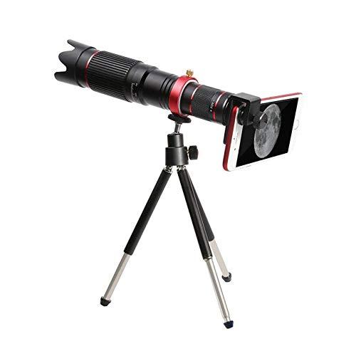 Iycorish Telescopio Zoom Lentes De Telefono Movil Universal 4K HD 36X Lente Optica De Enfoque Unico para iPhone Lente De La Camara