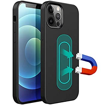ESTPEAK Liquid Silicone Magnetic Case Compatible with iPhone X/Xs,[Invisible Built-in Metal Plate] Support Magnetic Car Mount 360 Protective Cover Compatible with iPhone X/Xs 5.8