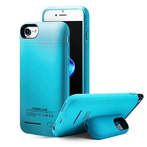 YLEX Battery Case for iPhone 8/7/6/6s, 3000mAh Battery Cases Portable Protective Charging Extended Battery Charger Case with Magnetic Stand for iPhone 8/7/6s/6 (4.7 inch) - Blue