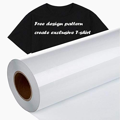 """Heat Transfer Vinyl Roll,12"""" x 10ft HTV Vinyl for Shirts, for All Cutter Machine,Easy to Cut & Weed for DIY Heat Vinyl Press Design for T-Shirt"""