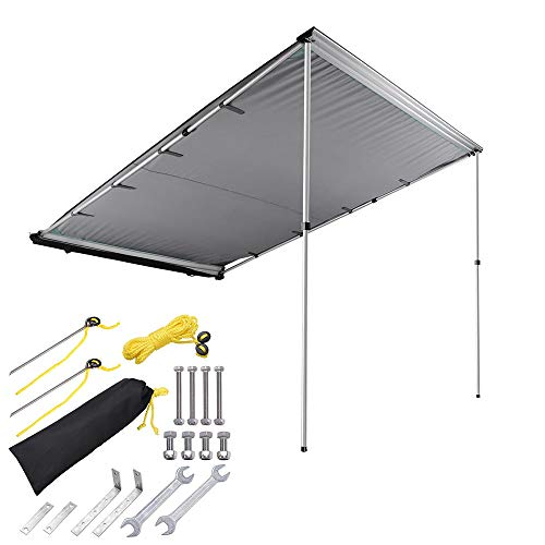 Yescom 6.6'x8.2' Car Side Awning Rooftop Pull Out Tent Shelter