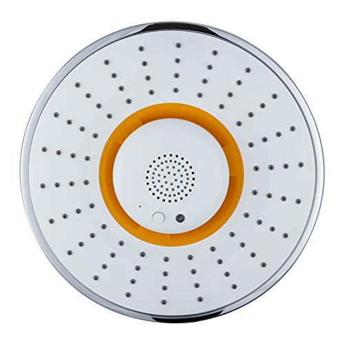 DYN Bluetooth Music Shower, Fixed Showerhead with Bluetooth Speaker, Wireless & Detachable Portable Speaker Shower Head, for Music Phone Calls Shower (Color : Yellow)
