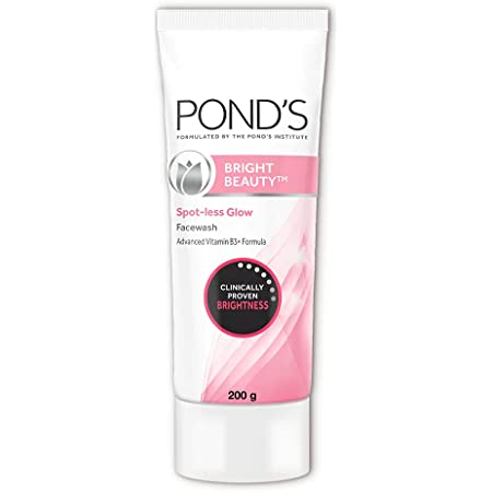 POND'S Bright Beauty Spot-less Glow Face Wash With Vitamins, Removes Dead Skin Cells & Dark Spots, Double Brightness Action, All Skin Types, 200g