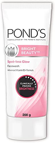 POND'S Bright Beauty Spot-less Glow Face Wash With Vitamins, Removes Dead Skin Cells & Dark Spots, Double Brightness ...
