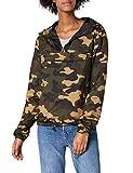 urban classics ladies camo pullover giacca, woodcamo, xxxl donna
