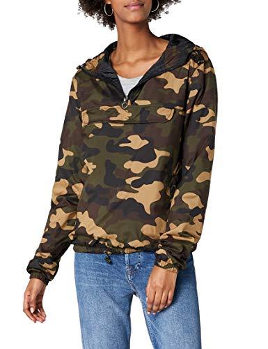 Urban Classics Damen Ladies Camo Pullover Jacke, Mehrfarbig (Woodcamo 00841), Medium (Herstellergröße: M)