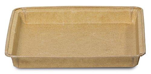 Guardini Monouso, 3 stampi brownies 16x16cm, carta da forno, Colore beige