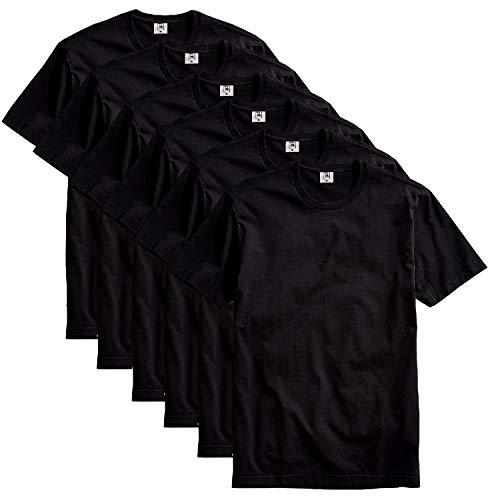 Kit com 6 Camisetas Masculina Básica Algodão Part.B Premium (Preto, G)