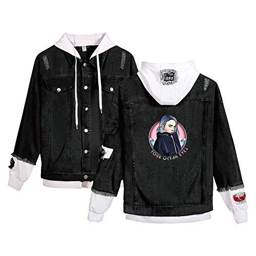 Landove Billie Eilish Spijkerjas Unisex Denim Jacket Hoodie