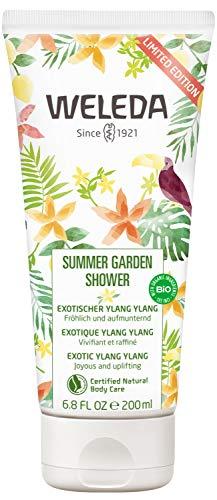 WELEDA Summer Garden Shower, pflegende Naturkosmetik Duschcreme für den Sommer, Duschgel auf pflanzlicher Basis, limited edition Bodywash mit exotischem Sommerduft (1 x 200ml)