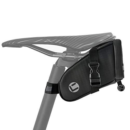 Yolansin Alforjas para sillín de bicicleta, bolsa para sillín de bicicleta, impermeable, bolsa trasera para bicicleta con reflectante, bolsa para sillín de bicicleta MTB de carreras