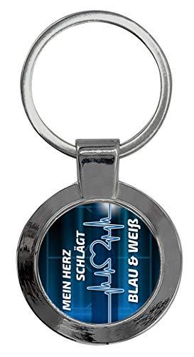 Schlüsselanhänger Rund mit Gravur Wunschtext Gelsenkirchen