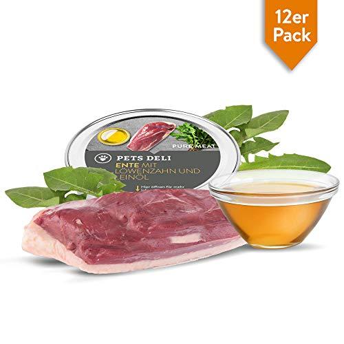 Premium Nassfutter Katze 12 x 85 g Ente & Huhn | 100% Lebensmittelqualität, ohne unnötige Zusatzstoffe | getreidefreies Katzenfutter nass mit hohem Fleischanteil, Vorteilspackung