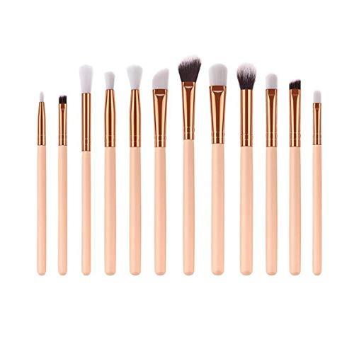 Maquillage Brush Set 12pcs Maquillage Professionnel Brosses Kit poignée en bois Brosses cosmétiques doux cheveux de beauté Maquillage des yeux ombre pinceau de maquillage, Maquillage de visage Pince