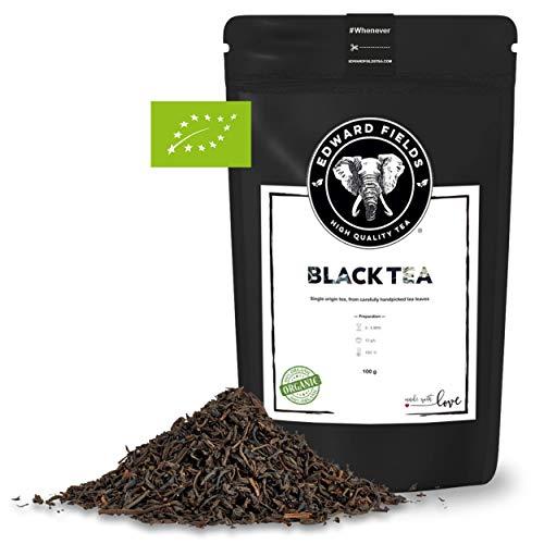 Edward Fields - Té Negro orgánico de alta calidad. Ingredientes y aromas naturales. Cantidad: 100g. Formato: Granel. Origen: China. Detox, antioxidante, adelgazante
