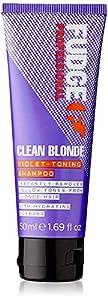 Fudge Professional Purple Toning Shampoo, Original Clean Blonde Shampoo, For Blonde Hair, 50 ml