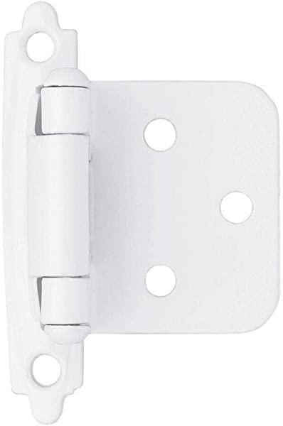 50pcs Self Closing Overlay Flush Cabinet Hinges White My