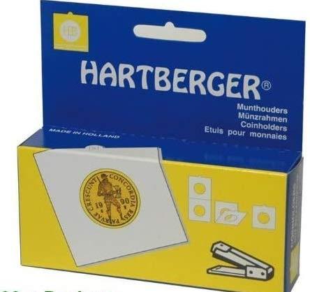 100 x 25 mm Hartberger Münzrähmchen Coinholder zum heften / non-adhesive needs to be stapled