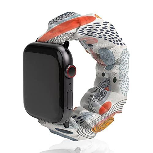 Banda deportiva de poliéster para Apple Watch, de punto redondo, con rayos solares, compatible con SE 6, 5, 4, 3, 2 y 1, 42mm/44mm,