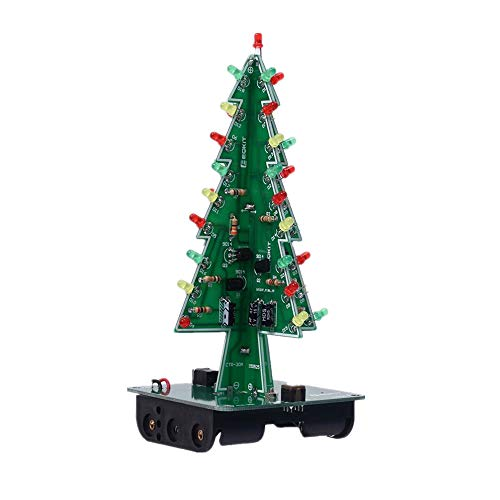 Ardest 3D DIY Electronic Christmas Tree with 7 Colours Shimmering RGB LEDs for Office Cubicle Decoration School Experiment Gift