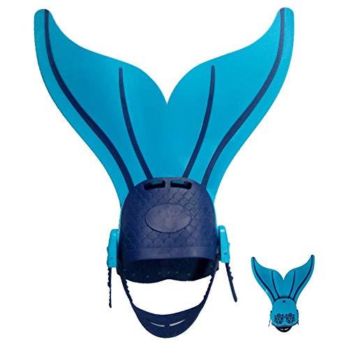 ZQYX Meerjungfrau Flossen Monofin Taucherflossen Für Kinder Erwachsene, Einstellbar Schwimmen Einteilige Flipper Schwimmflossen Für Kinder Schwimmen In Hübschen Farben Toller Schwimmspaß