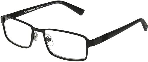 Foster Grant Ti 100 TI Tech Reading Glasses Gun Metal 3.25