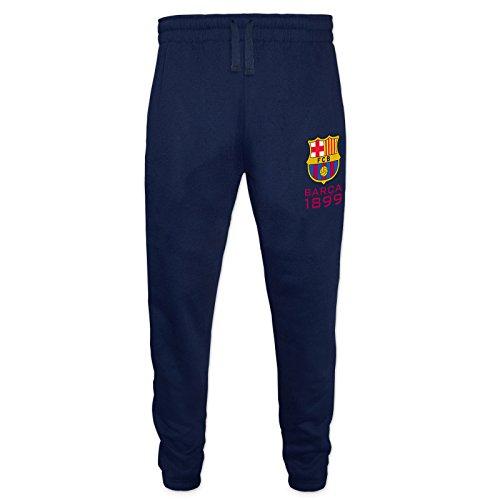 FC Barcelona - Herren Fleece-Jogginghose - Offizielles Merchandise - Geschenk für Fußballfans - Marineblau Schmal - XXL