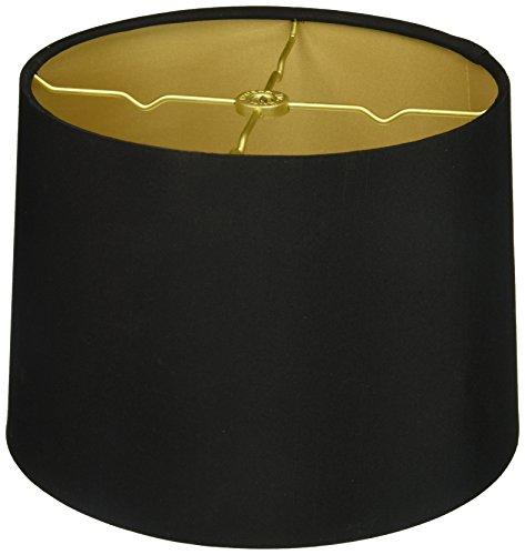 Royal Designs HB-610-10BLK/GL Shallow Drum Hardback Lamp Shade, 9 x 10 x 7, Black