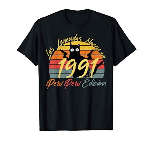 Nacido En Marzo 1991 Regalo Hombre 30 Años Cumpleaños - Gato Camiseta