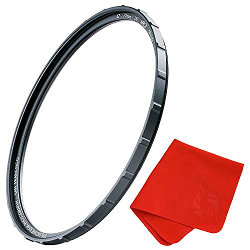 55mm X2 UV Filter for Camera Lenses - UV Protection Photography Filter with Lens Cloth - MRC8, Nanotec Coatings, Ultra-Slim, Traction Frame, Weather-Sealed by Breakthrough Photography