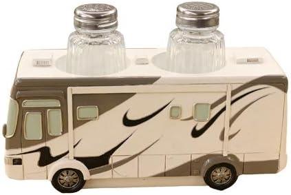 Amazon Com Class A Motorhome Rv Camper Salt Pepper Shaker Set Camping Kitchen Decor 7 Kitchen Dining