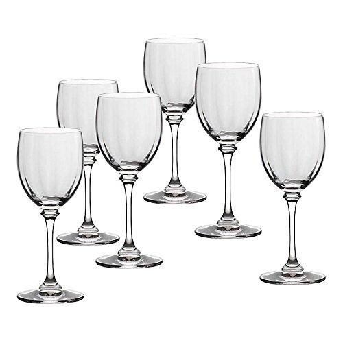 CRISTALICA Weinglas 6er-Set Condor Optik 150ml Weinkelch Weißwein Rotwein Bleikristall klar