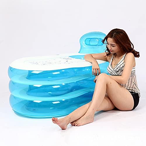 Bañera plegable Bañeras inflables gruesas portátiles Bañera de PVC para adultos Bañera de hidromasaje (rosa, 150 * 85 * 70 cm)