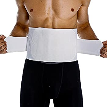 Surgical Abdominal Binder Post Surgery Belly Band Abdominal Umbilical Hernia Support Wrap Belt for Men Hernia Belt Stomach Ab Compression Wrap