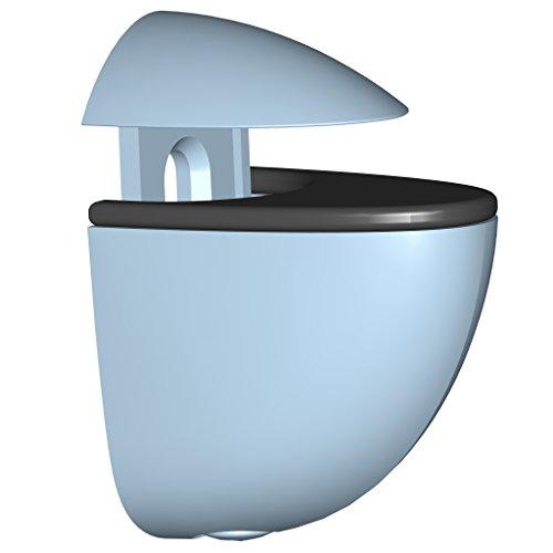 Element System 11050-00005 Regalbodenträger MINI / 2 Stück/Glas-Holzbodenträger/edelstahl / 5 Farben