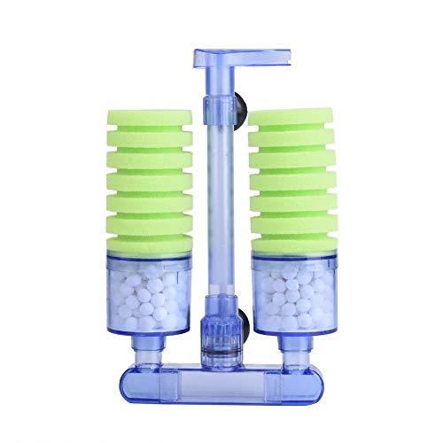 Pssopp Aquarium Filter Luftbetriebener Innenfilter Aquarienzubehör Schwammfilter Biologisch Aquariumfilter mit Saugnapf für Aquarien von 80 bis 350 Liter(XY-2882)